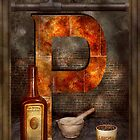 Steampunk - Alphabet - P is for Pharmacy by Mike  Savad