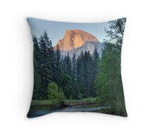 Half Dome Sunset - HDR Throw Pillow