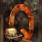Steampunk - Alphabet - Q is for Qwerty by Mike  Savad