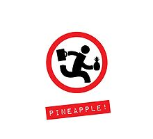 """Chuck TV show """"Pineapple!"""" white phone case by GreenSpeed"""