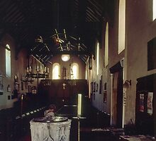Nave of St Mary the Virgin Hurley England 198405120012 by Fred Mitchell