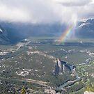Rainbow Over Banff by caybeach