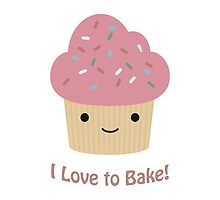 I love to bake! Cupcake by Eggtooth