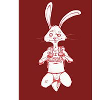Atheist Easter Bunny Photographic Print
