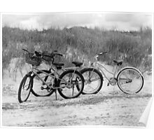Bikes On The Beach Poster