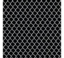 Chain Link on Black Photographic Print