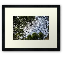 Overhead ~ Inside the Temple of Love Framed Print