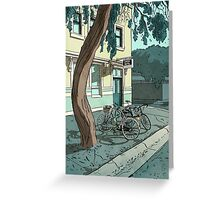 bicycles at the Hotel Greeting Card
