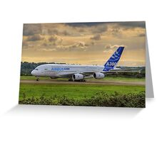 Airbus A380 - Evening Taxi Greeting Card