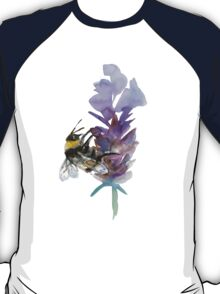 Bee on lavender watercolor T-Shirt