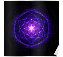Energetic Geometry - Indigo Prayers Poster