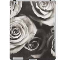 Medium format analog black and white photo of white rose flowers iPad Case/Skin