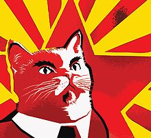 Communist Cat by Mert Ulus