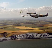 White Cliffs Spitfires by Gary Eason + Flight Artworks