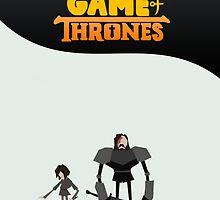 Arya Stark & Sandor Clegane (Game Of Thrones) by SmArtex