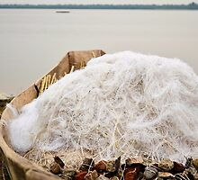 boat with nets on the lake by spetenfia