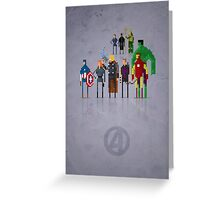 8-Bit Marvels Avengers Movie Greeting Card