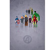 8-Bit Marvels Avengers Movie Photographic Print