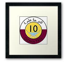 The Doha Ten Framed Print