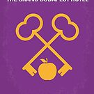 No347 My The Grand Budapest Hotel minimal movie poster by Chungkong