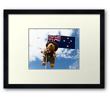 Pooh Bear and Kanga Down Under! Framed Print