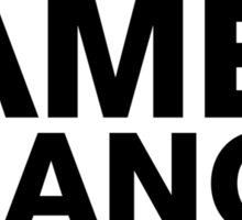 "James Franco - ""If I Die"" Series (Black) Sticker"