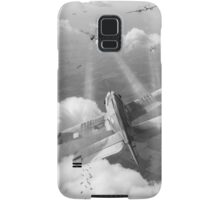 Headlong attack (Hurricanes over Weymouth) black and white version Samsung Galaxy Case/Skin