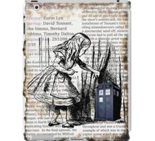 Little Girl Found Police Public Call Box on Old Newspaper iPad Case/Skin