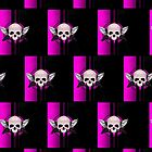 Wing Skull - PINK (Pattern) by Adamzworld