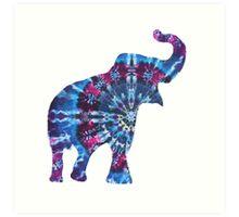 Tie Dye Elephant Art Print