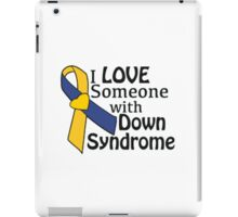 Down syndrome awareness ribbon iPad Case/Skin