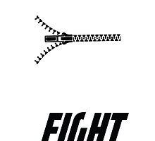 Fight Club - Minimalist Zipped Lips by PatriotShadow