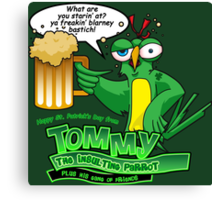 Tommy the Inulsting Parrot - Blarney Canvas Print