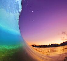 Sunset Rainbow Wave by loveandwater