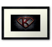 """The Letter K in the Style of """"Man of Steel"""" Framed Print"""