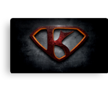 "The Letter K in the Style of ""Man of Steel"" Canvas Print"
