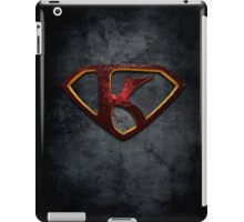 """The Letter K in the Style of """"Man of Steel"""" iPad Case/Skin"""