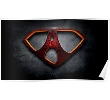 "The Letter A in the Style of ""Man of Steel"" Poster"