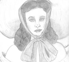 Vivien Leigh as Scarlett, by L Wilson