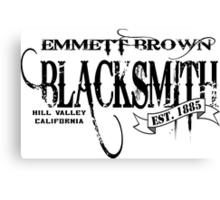 Doc Brown Blacksmith Canvas Print