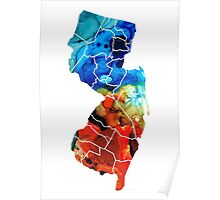New Jersey - State Map By Sharon Cummings Poster