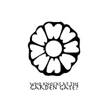 Who Knocks at the Garden Gate? Photographic Print