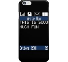 Text Message (black) iPhone Case/Skin