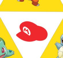 Tri-Force of Awesome (Zelda, Pokemon, Mario) Sticker