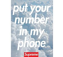 """Put your number in my phone"" Case by weathermanpat"
