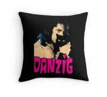 DANZIG Black Cat T-Shirt THE MISFITS Throw Pillow