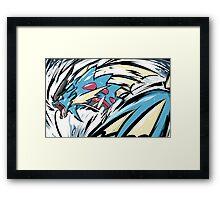 Mega Gyarados | Aqua Tail Framed Print