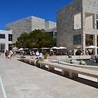 The Getty Centre stylish stone buildings in Los Angeles, California. City architecture photography. by naturematters