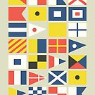 Nautical flag pattern by Budi Satria Kwan
