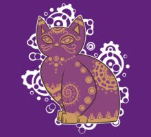 Love the Purple and Yellow Cat! by Shadall